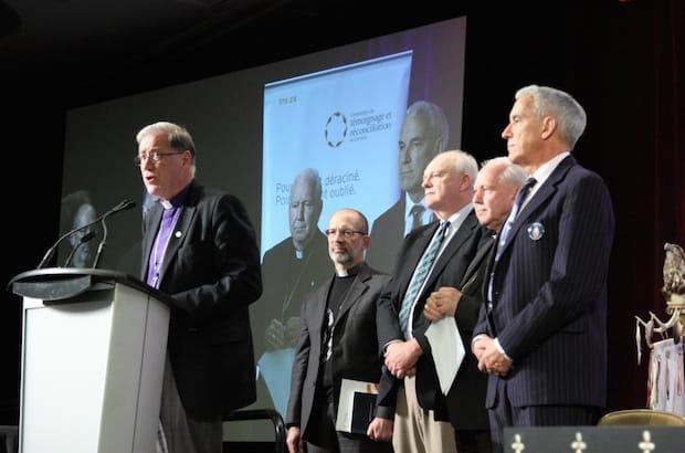 Church Signatories with Archbishop Fred Hiltz